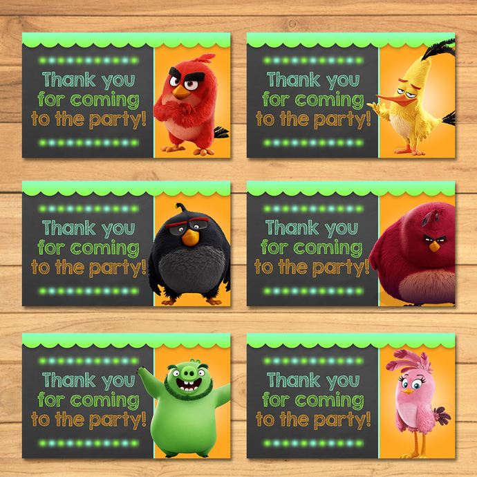 Angry Birds Party Tags Chalkboard * Angry Birds Movie Favor Tags * Angry Birds