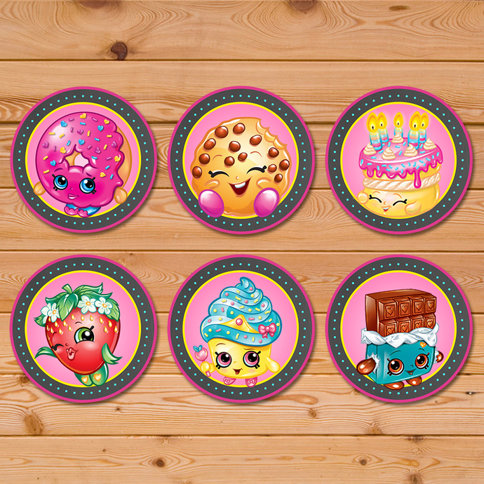 Shopkins Cupcake Toppers Chalkboard Banner * Shopkins Birthday * Shopkins