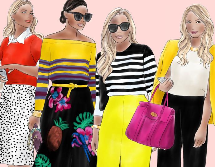 Watercolour fashion illustration clipart -  Fashion Girls 10 - Dark Skin