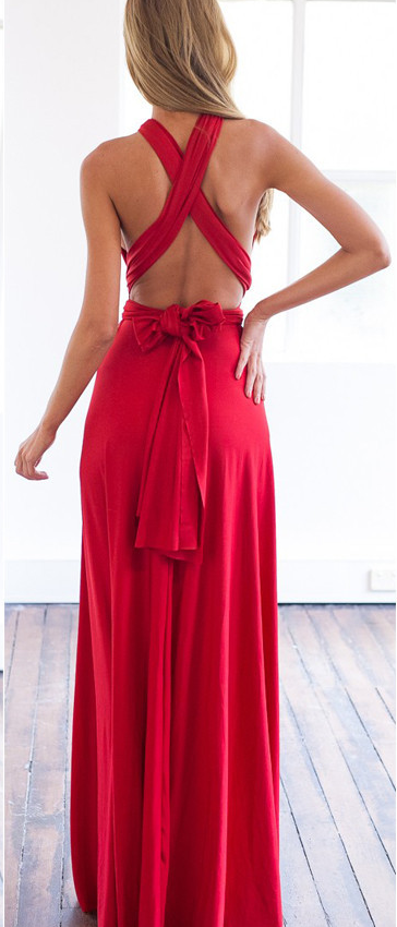 Red Prom Dress,Spaghetti Straps Evening Dress,Sexy Cross Back Prom Dress,Long