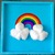 READY TO SHIP Hand Painted Rainbow and Clouds Large Keepsake / Jewelry Box