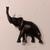 Handmade mahogany elephant sculpture