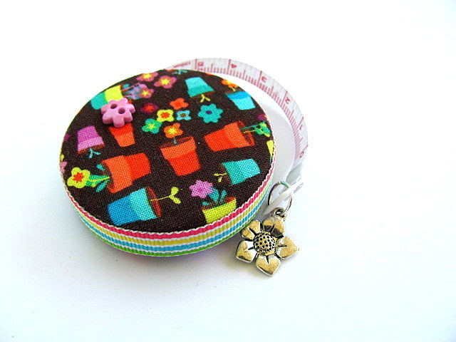 Tape Measure with Spring Flower Pots Retractable Measuring Tape