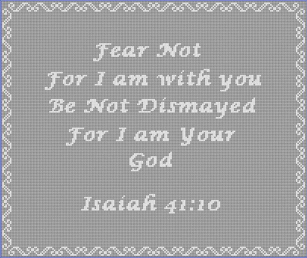 Isaiah 41:10 Filet Crochet Pattern