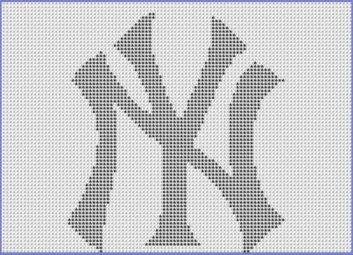 New York Yankees Filet Crochet By Celinas Crochet Creations On