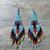 Water Bird Earrings Hand Made Seed Beaded