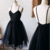 A-Line Spaghetti Straps Homecoming Dresses,Short Prom Dresses,Cheap Homecoming