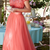 Two Piece Long Sleeves Prom Dress Lace Formal Gown