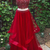 Red 2 pieces long prom dress,evening dresses