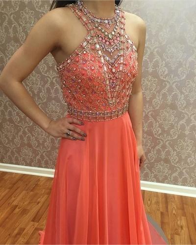 Prom Dress,Long Prom Dress,Evening Dress,Pretty Prom Dress,Beading Evening Gown