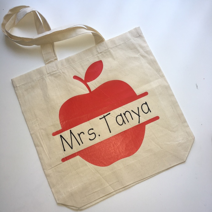 Teacher Monogram, personalized teacher gifts, Custom tote bags, unique teachers