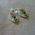 Russian Leaf Bee Earrings
