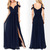 long bridesmaid dress, navy bridesmaid dress, cheap bridesmaid dress, chiffon