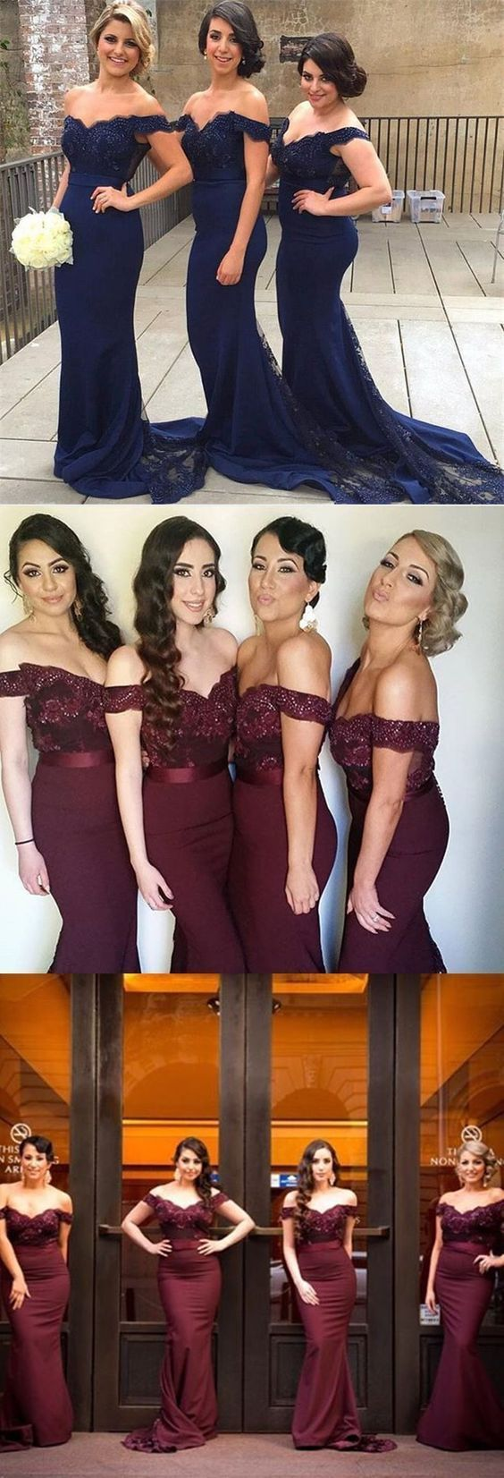 Elegant Off Shoulder Bridesmaid Dress,Long Sexy Backless Bridesmaid Women