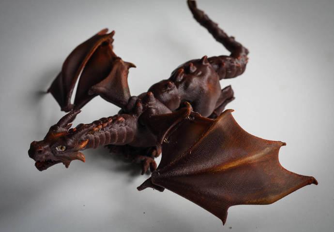 Small Brown Dragon | BJD Dragon | Ball Jointed Dragon | Articulated Dragon | Toy