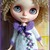 """BLYTHE or Pullip DOLL Dress - OOAK -""""Angie"""" - Pure mohair with vintage"""