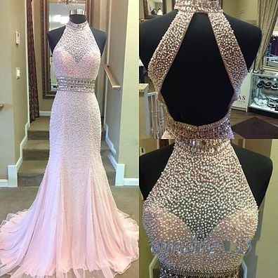Gorgeous Beaded Prom Dress,High Quality