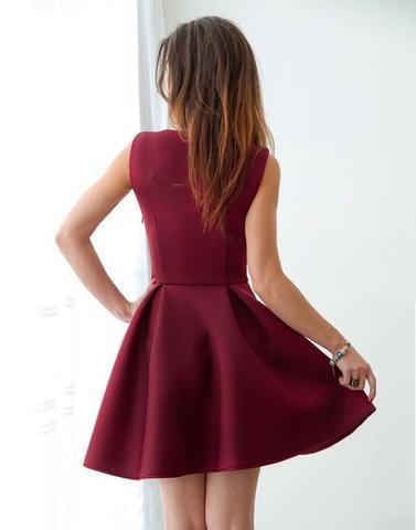 Cute Homecoming Dress, Burgundy Homecoming Dress, Short Prom Dress, New Fashion