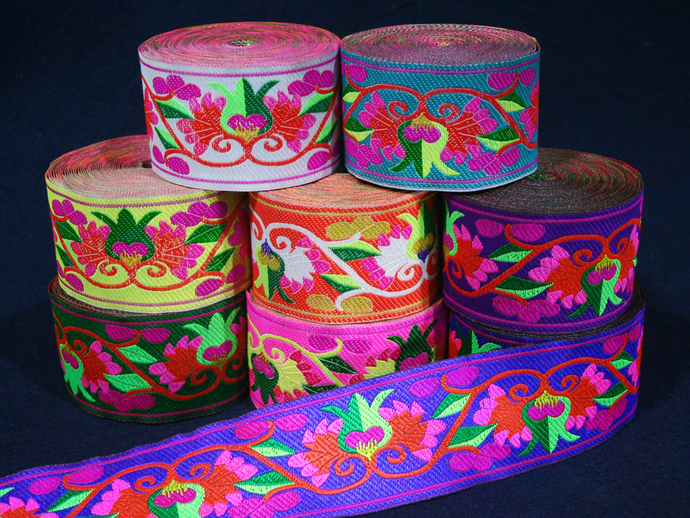 5cm x 1 m • Flower Pattern Trim Ribbon
