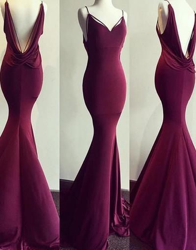 mermaid long burgundy formal evening dress. You would have to be a toothpick to