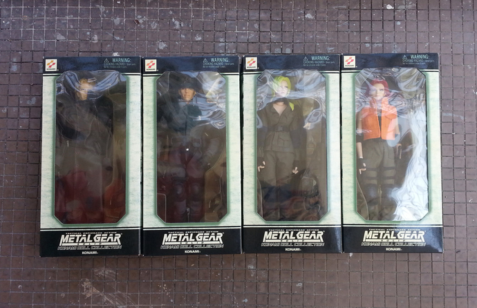 "Metal Gear Solid Konami Doll Collection - 12"" Action Figure Complete Set Of 4 -"