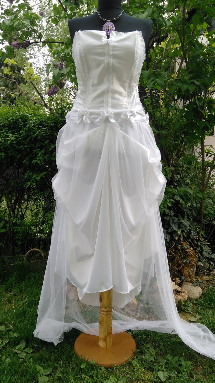 White Wedding Dress Wedding Gown Boho Beach By Viviaemi On Zibbet