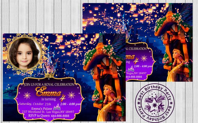 Rapunzel Invitation Rapunzel By Bestbirthdayparty On Zibbet