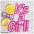 Free Standing Lace It's a Girl Tag Machine Embroidery Design in Pes, Dst, Exp,
