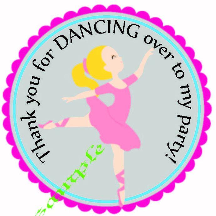 Ballerina Handmade Printable Party Favor Birthday- Tag Gift Birthday - Tags