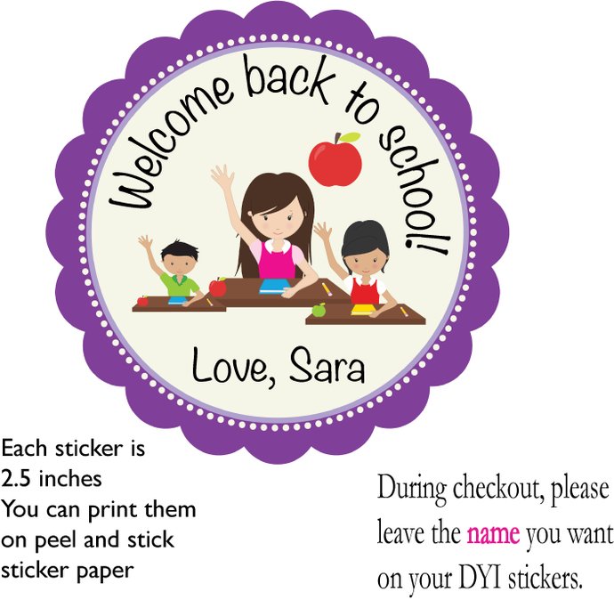 PLEASE READ-DIY Custom Tags- Teacher Favors- Back to School Teacher Tags- Gifts