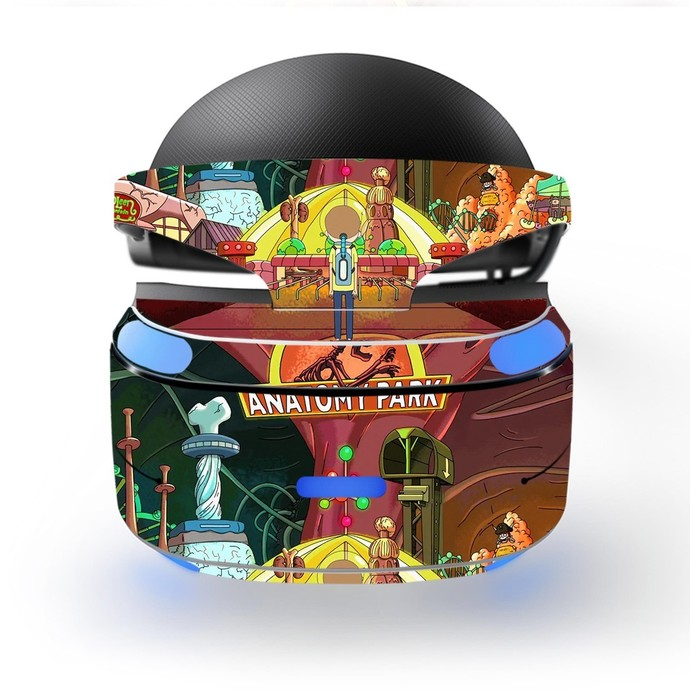 Rick and Morty Skin Decal for Playstation VR PS4 Headset cover sticker