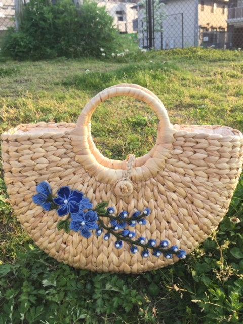 handwoven Water Hyacinth Straw Women's Fashionable Handbag, summer boho bag,