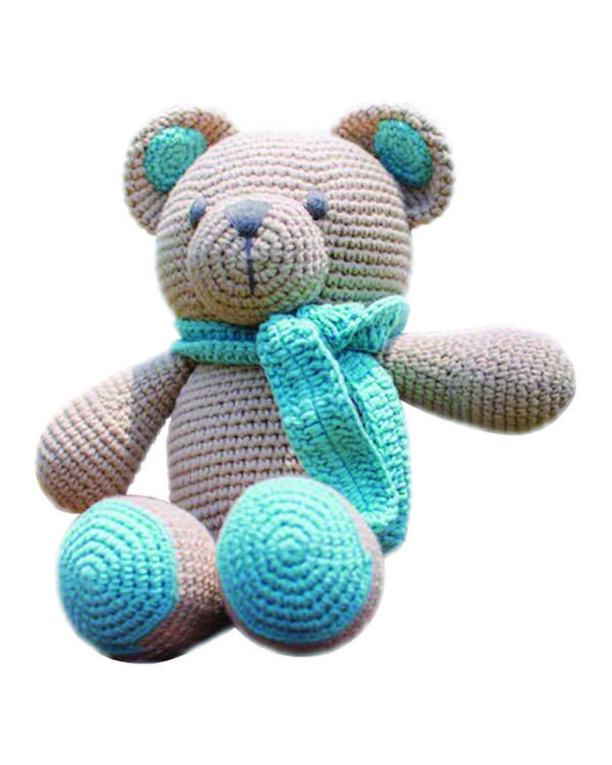 Handmade Bear amigurumi crochet knit doll for girl/boy gift present, handmade