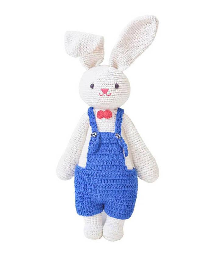 Cute Blue Rabbit Handmade Crochet  Doll, Beautiful handmade, Handstithced,
