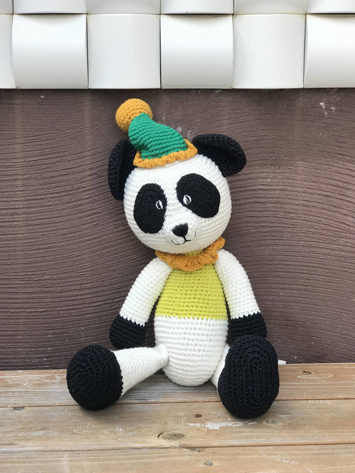 Beautiful handmade, Handstithced, Handmade Panda Crochet Doll, Handmade toys,