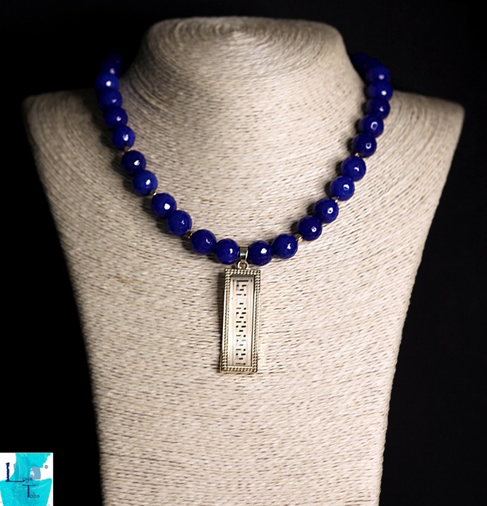 The Blue End Necklace and Earring Set
