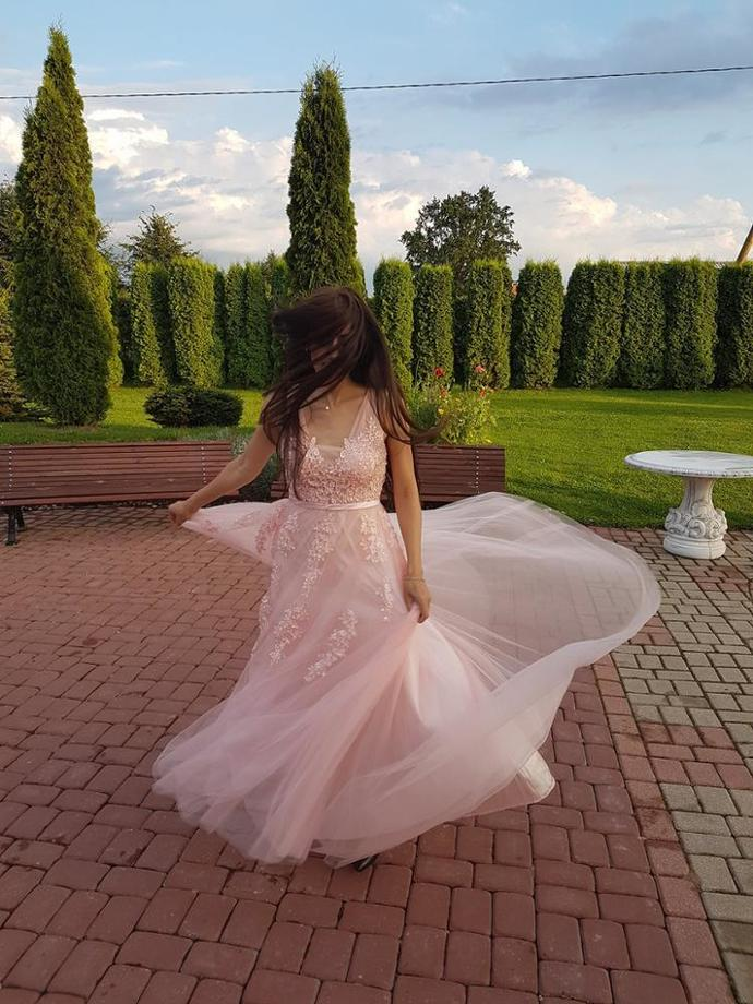 Backless Long Evening Dresses Bride Banquet Elegant Floor-length Party Prom