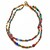 Two strand Beaded Necklace features multi shape, multi color beads, Boho