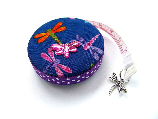Measuring Tape with Dragonflies Retractable Pocket Tape Measure