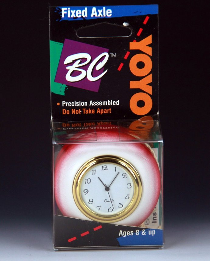 Tom Kuhn/BC School-Colors YoYo Desk Clock - Modded by YoYoSpin