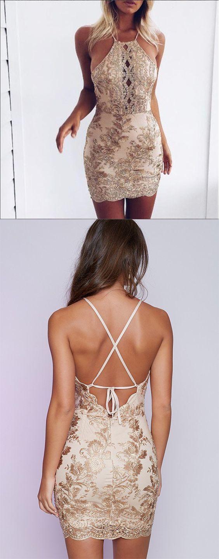 Sexy Sheath Sequins Mini Party Dress,Mermaid Appliques Homecoming Dress,Short