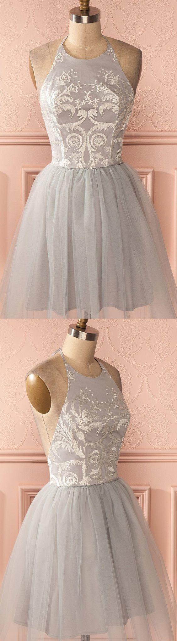 Cheap Sleeveless Silver Prom Homecoming Dresses Distinct Short A-line/Princess