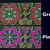 5cm x 1 m • Green/Pink Flower Hmong Fabric Trim Ribbon