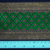 10 cm x 1 m • Blue/Green/Gold Thai Tradition Pattern Fabric Trim Ribbon