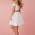 Off the Shoulder Lace Two Piece Homecoming Dresses, Short Prom Gowns