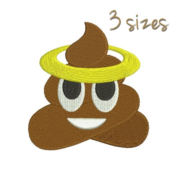 Poop embroidery design Emoji pattern glory designs instant digital download pes