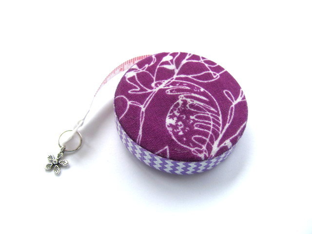 Tape Measure Tropical Purple Flowers Retractable Measuring Tape