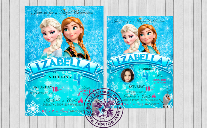 photograph about Frozen Birthday Card Printable called Frozen Birthday Invitation Printable, Frozen Invitation, Frozen Get together Invite, Frozen birthday invites, Frozen birthday celebration invites