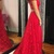 Red A-line Long Prom Dress,Pretty Sleeveless Prom Dress,Formal Evening Gowns