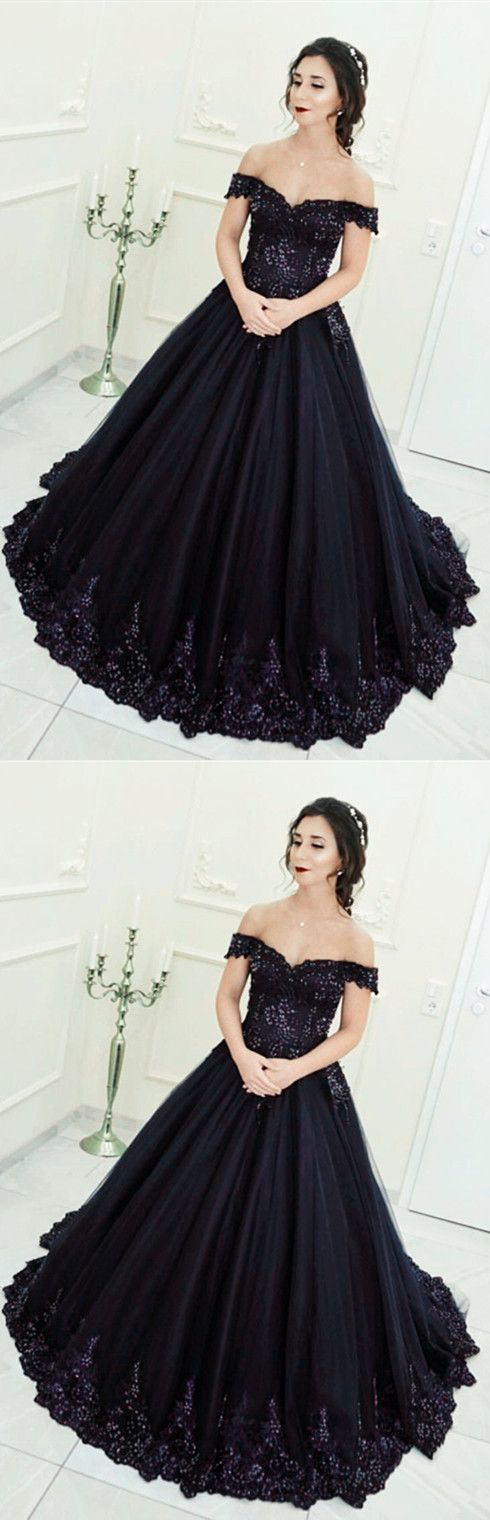 Gorgeous Beaded Lace V-neck Off The Shoulder Tulle Ball Gowns Quinceanera